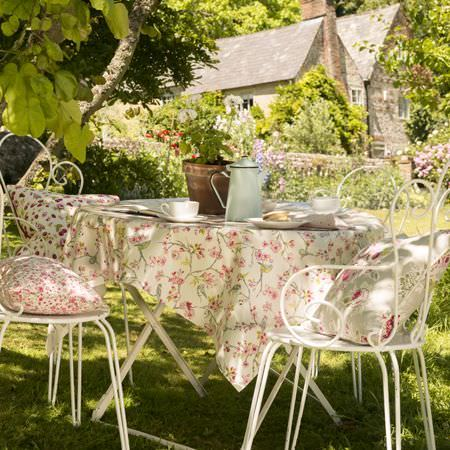 fabric garden. Studio G - Garden Party Fabric Collection Country House And With A White Metal
