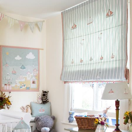 Susie watson designs fabric collection susie watson for Curtain fabric for baby nursery